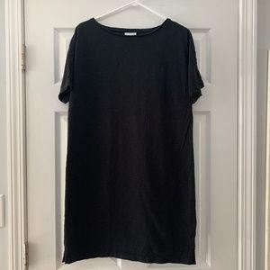 Black J. Jill short sleeve t-shirt dress